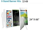 X STAND BANNER KIT 24X66